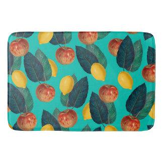 Tapete De Banheiro cerceta das maçãs e dos limões