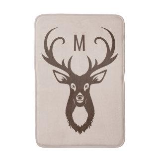 Tapete De Banheiro Cervos com suas esteiras de banho do monograma