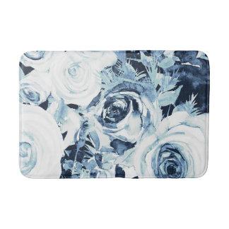 Tapete De Banheiro Chique floral do vintage dos rosas do inverno
