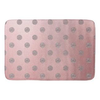 Tapete De Banheiro Chique moderno das bolinhas Glam cor-de-rosa do