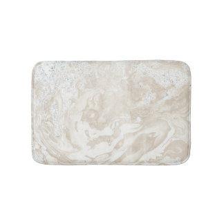 Tapete De Banheiro Cinzas bege cremosas luxuosas de pedra de mármore