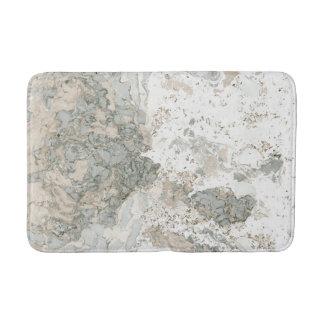 Tapete De Banheiro Cinzas cremosas de Cali da hortelã do abstrato de