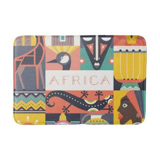 Tapete De Banheiro Colagem simbólica africana da arte