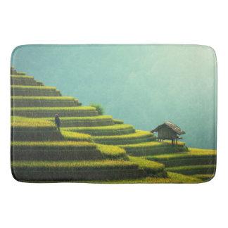 Tapete De Banheiro Colheita do arroz da agricultura de China