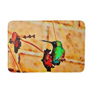 Tapete De Banheiro Colibri pouco verde e vermelho