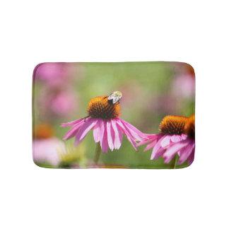 Tapete De Banheiro Coneflower e abelha do mel