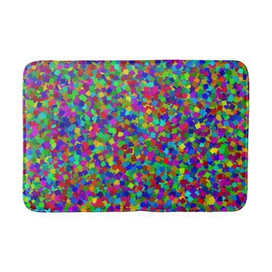 Tapete De Banheiro Confetes - coloridos