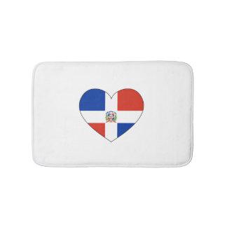 Tapete De Banheiro Coração da bandeira da República Dominicana