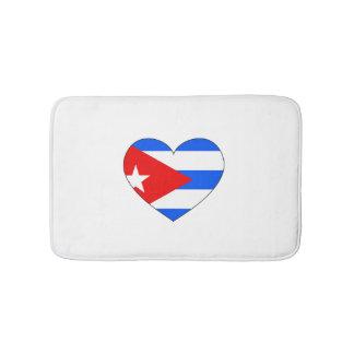 Tapete De Banheiro Coração da bandeira de Cuba