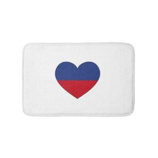 Tapete De Banheiro Coração da bandeira de Haiti