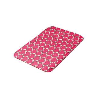 Tapete De Banheiro corações cor-de-rosa
