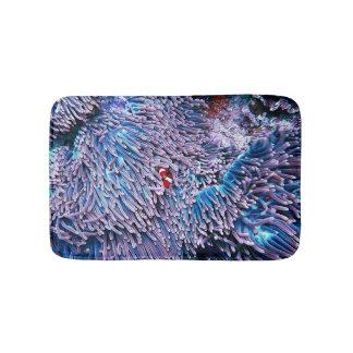 Tapete De Banheiro Coral tropical de incandescência vibrante do mar