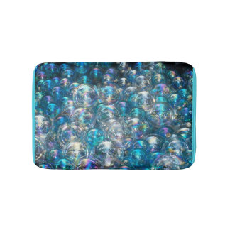 Tapete De Banheiro Cores azuis minúsculas do costume da esteira de