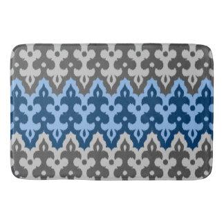 Tapete De Banheiro Damasco, azul e cinzas/cinza de Ikat do marroquino