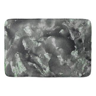 Tapete De Banheiro De tinta preta no marcador lavável verde
