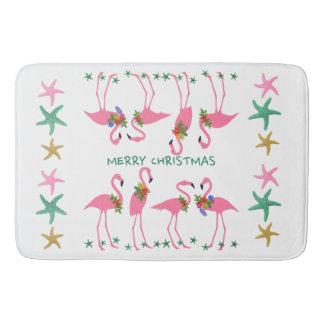 Tapete De Banheiro Decoração da estrela do mar dos flamingos do Feliz