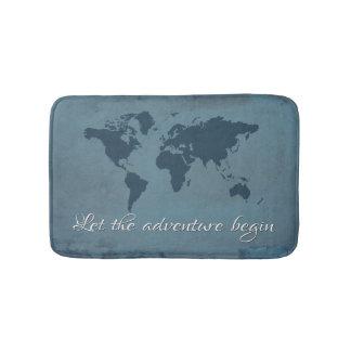 Tapete De Banheiro Deixe a aventura começar