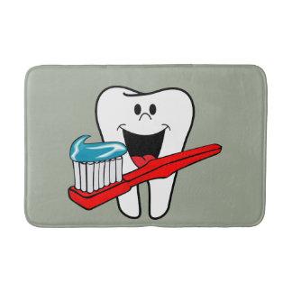 Tapete De Banheiro Dente limpo feliz