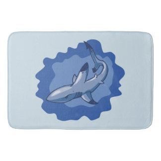 Tapete De Banheiro desenhos animados engraçados do tubarão do recife