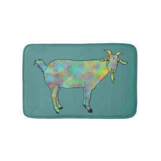 Tapete De Banheiro Design animal colorido da cabra verde da arte