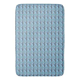 Tapete De Banheiro Design azul bonito agradável bonito do aqua da