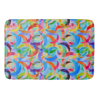 Tapete De Banheiro Design crescente colorido na grande grande esteira