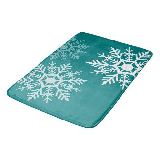 Tapete De Banheiro Design das estrelas da neve - esteira de banho