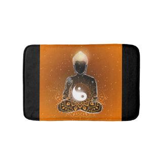 Tapete De Banheiro Design de Ying Yang da meditação de Buddha