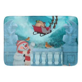 Tapete De Banheiro Design do Natal, Papai Noel