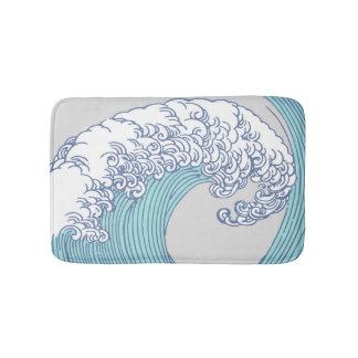 Tapete De Banheiro Design japonês da onda do impressão dos trabalhos