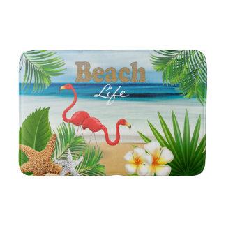 Tapete De Banheiro Design tropical do oceano da praia com pássaros do