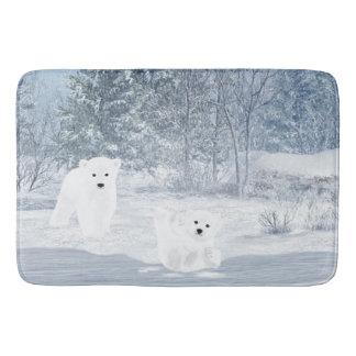 Tapete De Banheiro Divertimento da neve - urso Cubs polar,