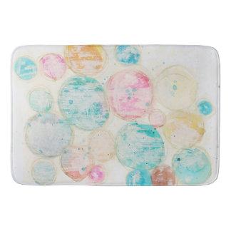 Tapete De Banheiro Do rosa sujo gasto do círculo da arte abstracta