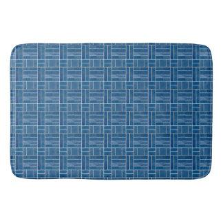 Tapete De Banheiro Efeito azul dos azulejos