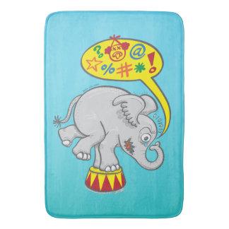 Tapete De Banheiro Elefante irritado do circo que diz palavras más