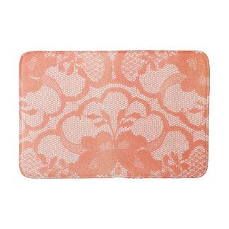 Tapete De Banheiro Encanto luxuoso branco Glam do laço cor-de-rosa