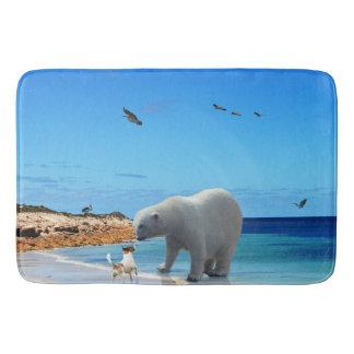 Tapete De Banheiro Encontro do urso polar,