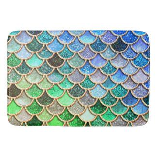 Tapete De Banheiro Escalas brilhantes azuis verdes da sereia do
