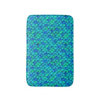 Tapete De Banheiro Escalas do azul do Aqua de Falln