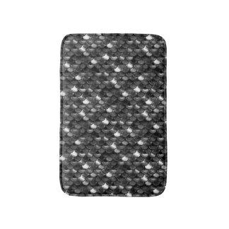 Tapete De Banheiro Escalas preto e branco de Falln