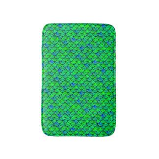 Tapete De Banheiro Escalas verdes do azul de Falln