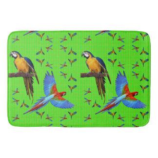 Tapete De Banheiro Escarlate colorido dos papagaios Macaw do azul e
