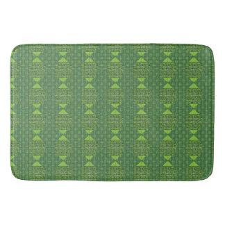 Tapete De Banheiro Esteira de banho abstrata verde do impressão