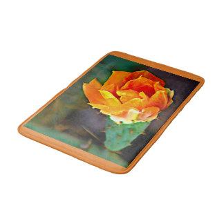 Tapete De Banheiro Esteira de banho alaranjada da flor da pera