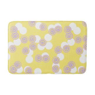 Tapete De Banheiro Esteira de banho amarela dos pontos concêntricos