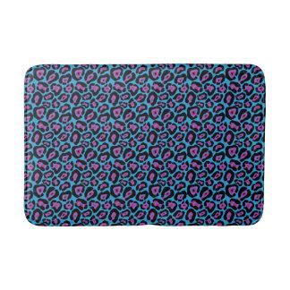 Tapete De Banheiro Esteira de banho azul & cor-de-rosa chique do