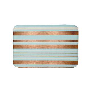 Tapete De Banheiro Esteira de banho azul do ovo de cobre moderno dos
