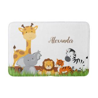Tapete De Banheiro Esteira de banho bonito dos animais do bebê da