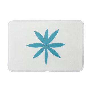 Tapete De Banheiro Esteira de banho branca com estrela de turquesa