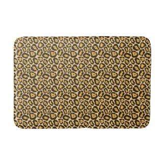 Tapete De Banheiro Esteira de banho chique do impressão do leopardo